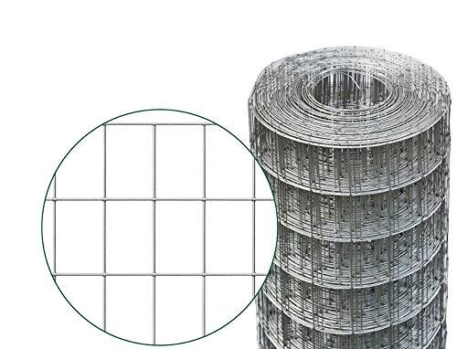 ROTOLO 25 m RETE METALLICA ZINCATA ELETTROSALDATA PER RECINZIONE MAGLIA 75x50 mm (125 cm)