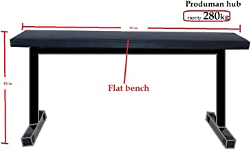 Produman hub Flat Weight Bench- 280 kg Capacity Utility Exercise Bench for Weight Strength Training Fitness Bench for Full Body Workout of Home Gym