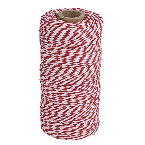 Sunnysam Küchengarn aus Baumwolle, Kochen, Backen, Kunst, Basteln und Geschenkverpackung, 100 m rot