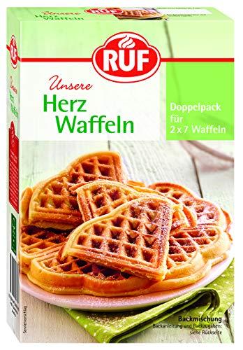 RUF Lebensmittelwerk Herzwaffeln, 4er Pack (4 x 551 g)