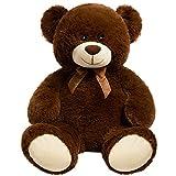 HollyHOME Teddy Bear Plush Giant Teddy Bears Stuffed Animals Teddy Bear Love 36 inch Chocolate