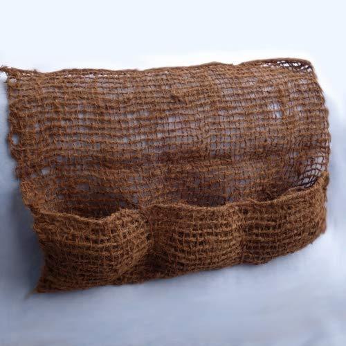 Kokosgewebe Pflanztasche Kokos ca. 100 cm breit mit 3 Taschen