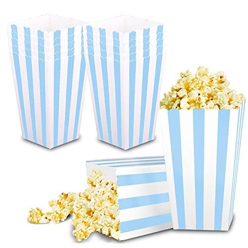 VAINECHAY 12pcs Catole di Popcorn Contenitori di Popcorn Caramelle Spuntini del Partito Dolci Popcorn e Regali Rosa per Feste Movie Nights Carnival Christmas Blu
