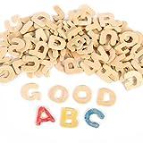 Oulii Buchstabenset aus Holz, Alphabet aus Holz, Basteln, Weihnachten, Geburtstagsgeschenk für Kinder