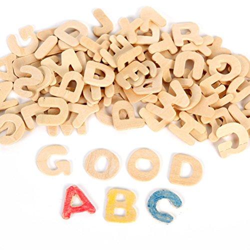 rosenice Buchstaben aus Holz klein Holz Alphabet Buchstaben Alphabet aus Holz DIY für die Schule Kindergarten