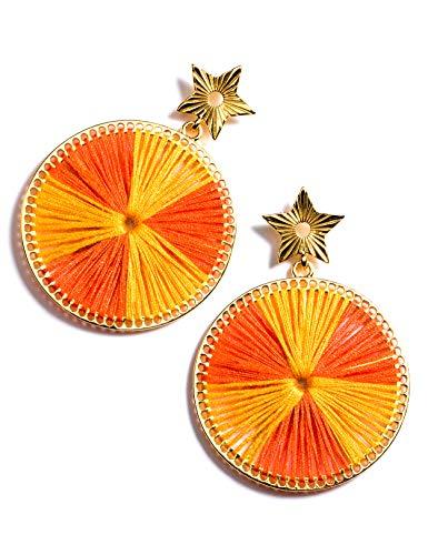 Enameljewelries Wave Tortoise Shell Hoop Earrings Lightweight Acrylic Resin Hoop Earrings with Hypoallergenic 925 Silver Post for Women (C5#Leopard)
