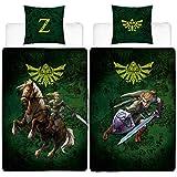 Linon Wende-Bettwäsche The Legend of Zelda - Fight - 135 x 200cm + 80 x 80cm - 100% Baumwolle...