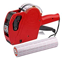 1 line Price Gun Starter Kit, Includes Spare Ink & 10 rolls of Labels Stylish & Durable design Latest - One Touch Open System Manufactured ISO 9001 certified quality-control system Can print 8 digits on one line!