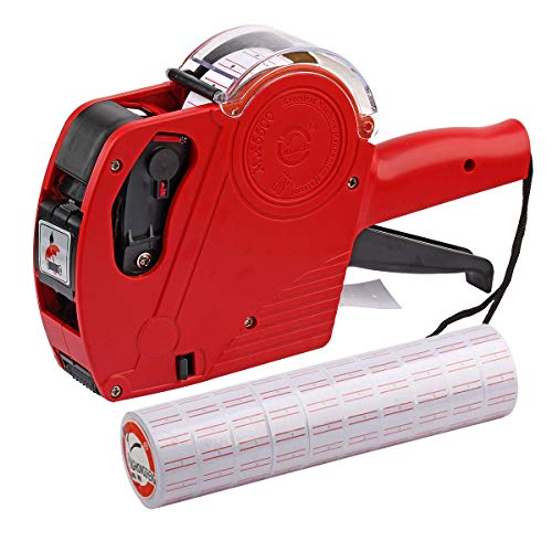 ASIBT MX5500 EOS Red 8 Digits Pricing Gun Kit with 7,000 Labels & Spare Ink