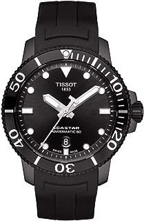 Seastar 1000 Black Dial Automatic Men's Rubber Watch T120.407.37.051.00