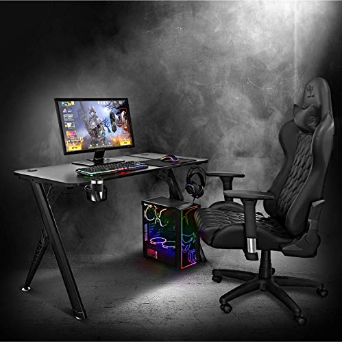 Mesa Gaming Spirit of Gamer Headquarter 200/ 113 x 60 x 75cm/ Negro