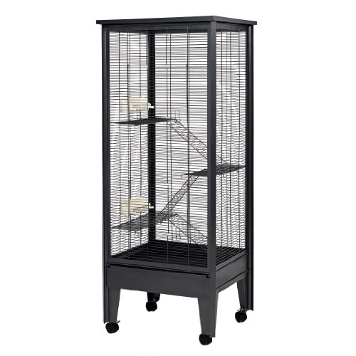 Little Friends Large Chewproof Tall Chinchilla Metal Cage