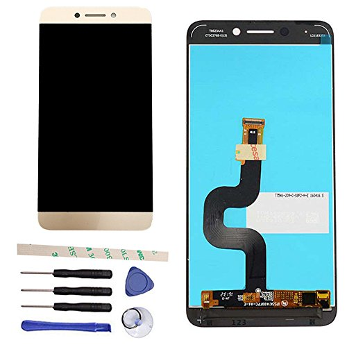 LCD Display Touch Screen Digitizer Assembly Replacement for Letv LeEco Le S3 X 622 X626 X 522 X532 (Gold)