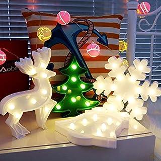 Lovely Decorative Christmas Night Lamp Table Lamp Wall Light for Kids Room(Elk,Bell,Christmas Tree,Snowflake)