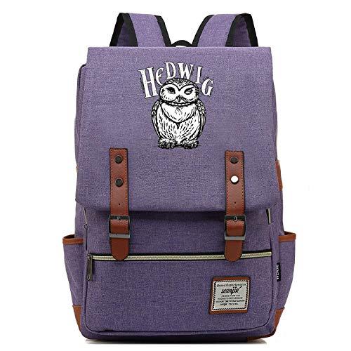 MMZ Mochila de bho para Adolescentes Mochila Escolar de Lona Hedwig Mochila de Viaje de Ocio Universitario Unisex 43X29X13.5CM (Style3)