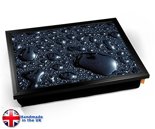 Black Rain Cushion Lap Tray Kissen Tablett Knietablett Kissentablett - Schwarzer Rahmen