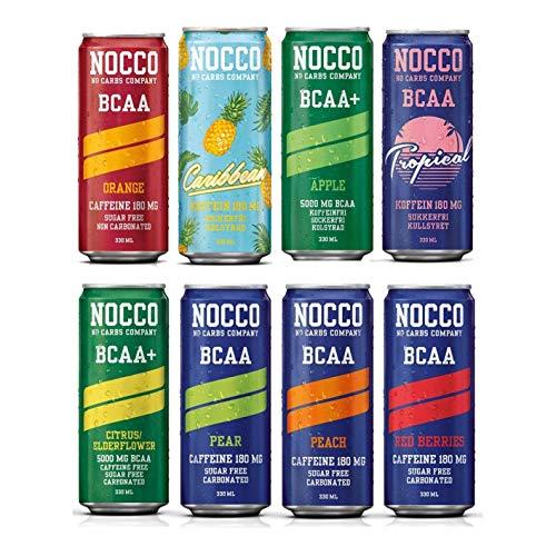 Mista NOCCO (No Carbs Company) (12 lattine da 330 ml) Tutti i Sapori