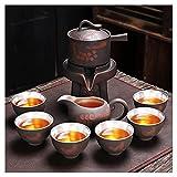 dxjsf Lazy Stone Millstone Rotating Semi-Automático Juego de té Set Home Tea Maker Ceremonia de té Partido Inicio Oficina Decoración ( Size : D )
