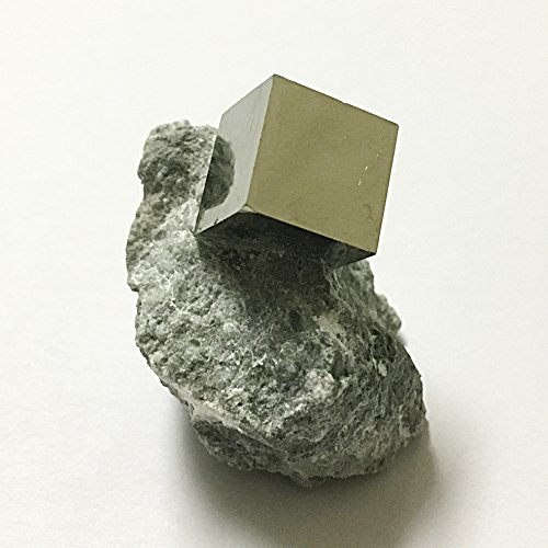 Natural Pyrite Cube In Matrix - Beautiful Mineral Specimen!