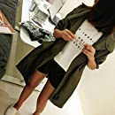 OKAYOU 原宿BFルーズシンA振り子巾着ウインドブレーカー女性ロングセクション学生シンコートカーディガン