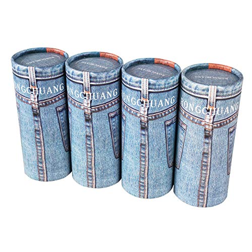 RONGCHUANG Facial Tissue 4 Packs 120 Count Tissues Per Tube Portable Cylinder Box Roll for Office Car Home Blue