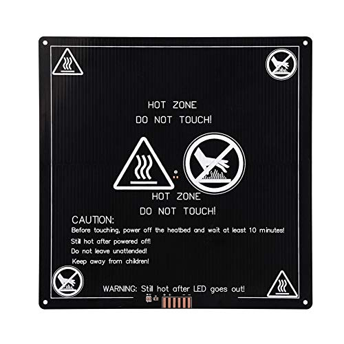 banapoy Heat Bed, High Reliability Heat Plate, Aluminum Black for 3D Printer