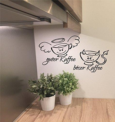 A&D design Deutschland *NEU* Wandtattoo f. Küche/Esszimmer/Büro ***GUTER Kaffee - BÖSER Kaffee m. Größen u. Farbauswahl (50cm)