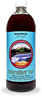 Maximum Living MineralRich Plus Aloe Minerals Supplement - 32oz