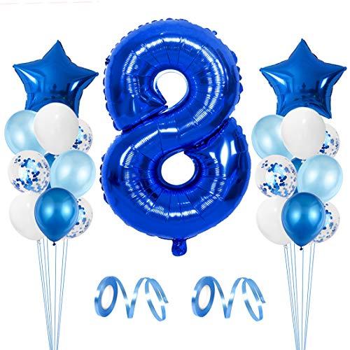 Globo de Cumpleaños 8 año, Globo 8 Año, 8 Cumpleaños Niño, Globo Numero 8 Gigantes, 8 Años Cumpleaños, Number Balloons, Globos Decoracion Bautizo Comunión Fiesta Cumpleaños