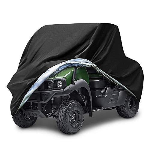 WHCL Cubierta impermeable UTV, resistente 210D Oxford tela ATV cubiertas con hebilla de liberación rápida, cubierta universal para bicicleta de scooter, moto, XXXL