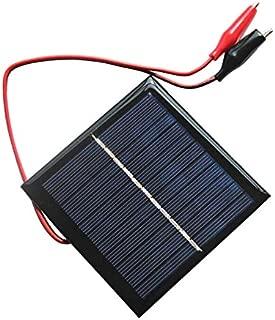 AOSHIKE 5.5V 1W Solar Panel DIY Photovoltaic Solar Cell Car Lamp Light Sun Power Sunpower 95x95mm(H)