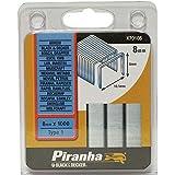 Black+Decker X70108-QZ - 1000 Grapas de alambre redondo de Long. 8mm, Ancho interior 10.1mm, Ancho exterior 11.4mm. Para X72007 / X72008. Uso ligero.