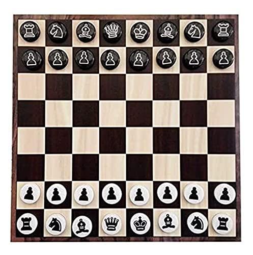 Ajedrez Exquisito plástico plástico de Hierro disquetes de Hierro Regalo de niños Rompecabezas pegando al Tablero de Pared Juegos de ajedrez (Size : 30x30cm)