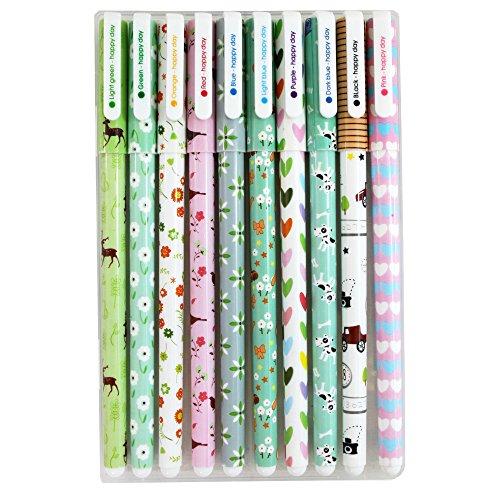 Katara 1796 Rushed Superstar Stifte-Set mit 10 Bunt-Stiften in unterschiedlichen Farben, Fineliner mit dünner Mine, Schreib-stifte zum Malen, Schreiben, Farb-Zubehör für Schule und Büro, Design 3