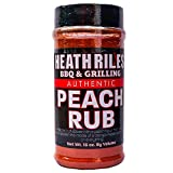 Heath Riles BBQ Peach Rub Seasoning, Champion Pitmaster Recipe, Shaker Spice Mix, 16 oz.