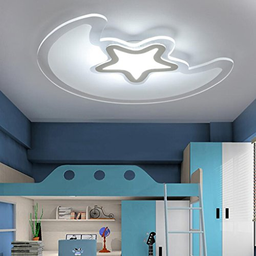 BiuTeFang Creative mince acrylique led plafonnier lampe de chambre lampe pour enfants lampe de dessin animé plafonnier tricolore segment lumière variable 53x42cm 30W