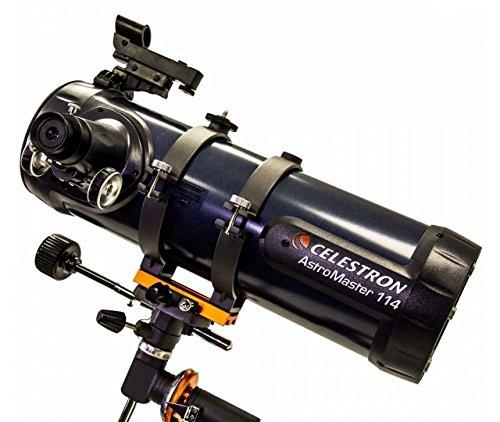 OpticsPlanet Exclusive Celestron AstroMaster 114EQ Telescope w/Motor Drive 31042-OP-DS