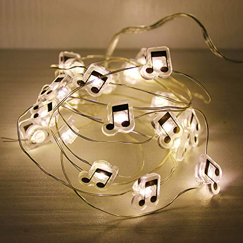 GUOCHENG Music Note Accessories Firefly Moon String Lights Battery Power LED Decorative Starry String Light for Wedding Party Xmas Tree Bedroom