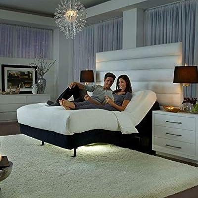"""Prodigy Comfort Elite Adjustable Bed Base by Leggett & Platt with 12"""" CoolBreeze Memory Foam Mattress by Dynasty Mattress (Split King)"""