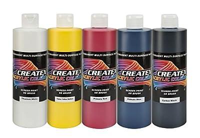 Createx Colors 2042-00 Acrylic Classroom Set (12 Color), 16 oz