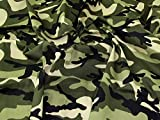 Minerva Crafts Camouflage-Baumwollstoff, Grün, Meterware