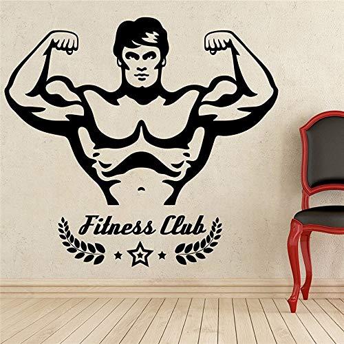 hetingyue Turnhalle Sport Fitness Club Vinyl muurtattoos waterdicht afneembare muurdecoratie verwijderbare muursticker modern design