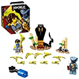 LEGO NINJAGO Battaglia Epica - Jay vs Serpentino, Giocattolo da Battaglia Rotante con 2 Minifigure Ninja, 71732