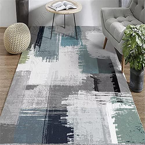 AU-SHTANG goedkoop tapijt Lichtblauw inktpatroon, antibacteriële water wassen baby kruipen anti-slip tapijt goedkope tapijten -licht blauw_140x200cm