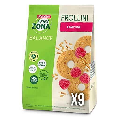 enerZONA Frollini Box da 9 buste Lampone Balance 40-30-30