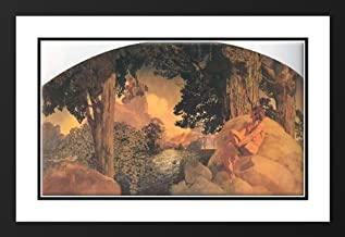 Dream Castle in the Sky 25x29 Framed and Double Matted Art Print by Parrish, Maxfield