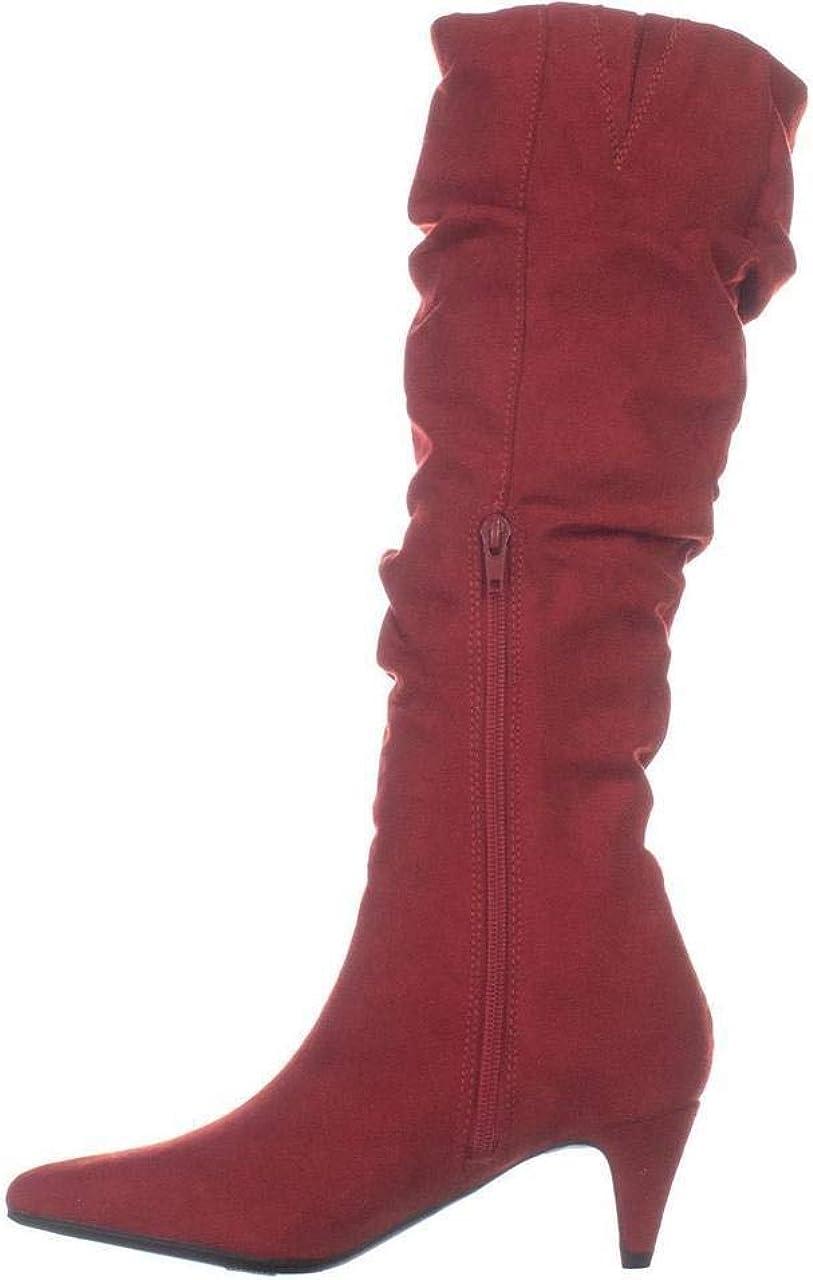 bar III Womens Edina Faux Suede Slouchy Mid-Calf Boots