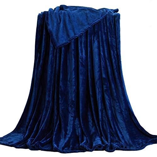 Kinberry Manta Súper suave y acogedora, manta de felpa de terciopelo de franela 70 * 100 cm / 100 * 140 cm-negro/rojo/plata/beige/azul oscuro/marrón para la cama, sofá