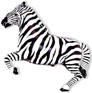 zebra helium balloons