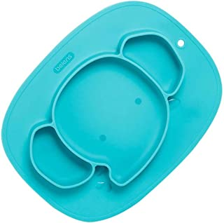 STOBOK Silicone Divided Toddler Baby Plates Elephant Portable Non Slip Suction Plates Self Feeding Dish Bowl for Children ...